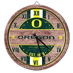 FOCO Oregon Ducks NCAA Barrel Wall Clock