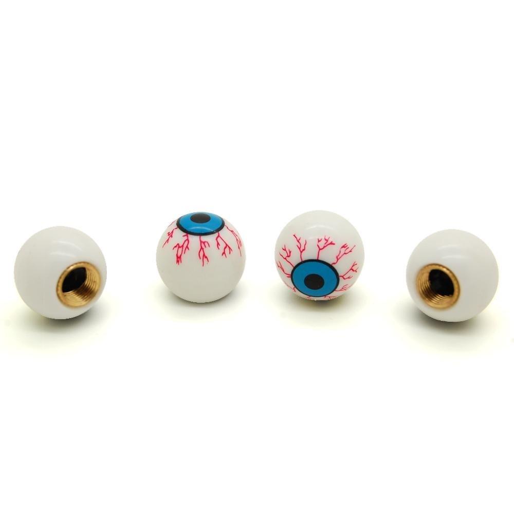 Lot de 4 bouchons de valve Oeil en plastique Mygoodprice