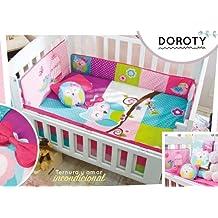 Baby Girl Owl Multi-Color Doroty 6 piece Crib Bedding Set