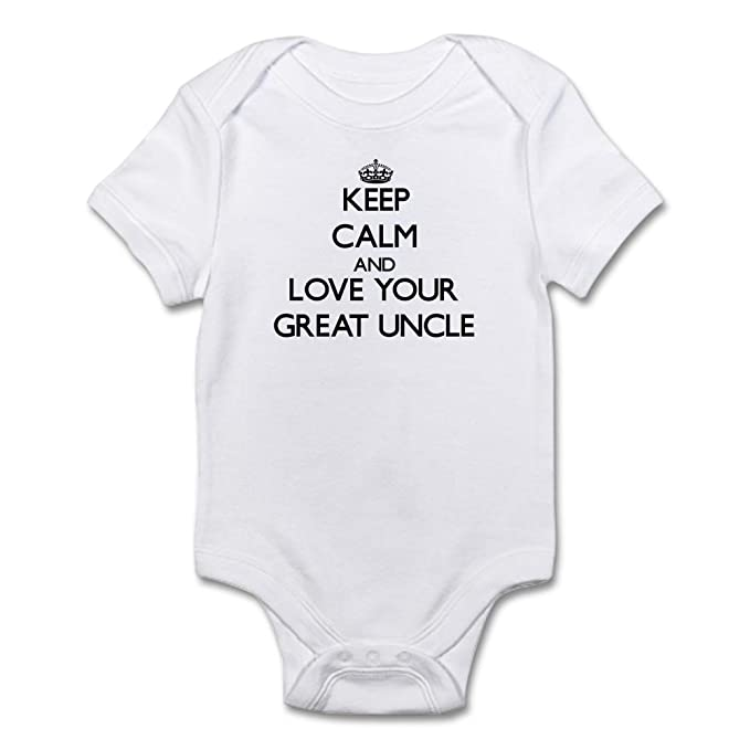 CafePress Keep Calm and Love Your Great Uncle Body Suit Cute Infant  Bodysuit Baby Romper Cloud 5f69d27bc12a