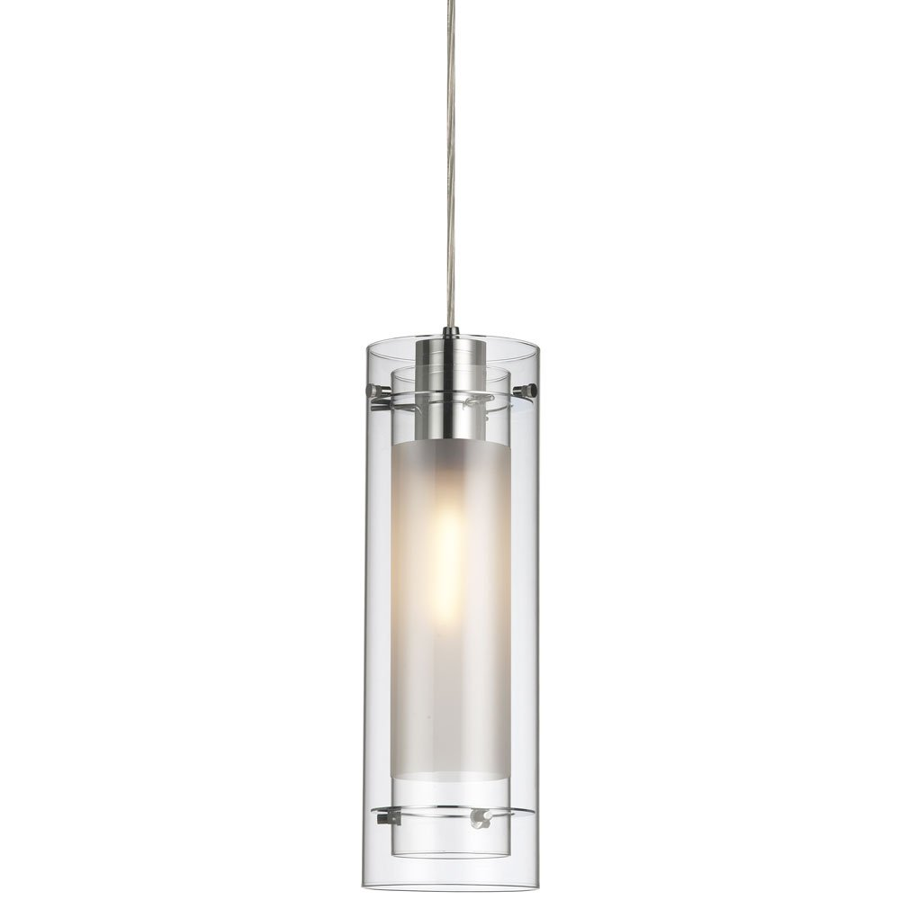 Dainolite 22152 cl 790 pc single pendant clear glass with fabric dainolite 22152 cl 790 pc single pendant clear glass with fabric insert polished chrome white ceiling pendant fixtures amazon mozeypictures Images