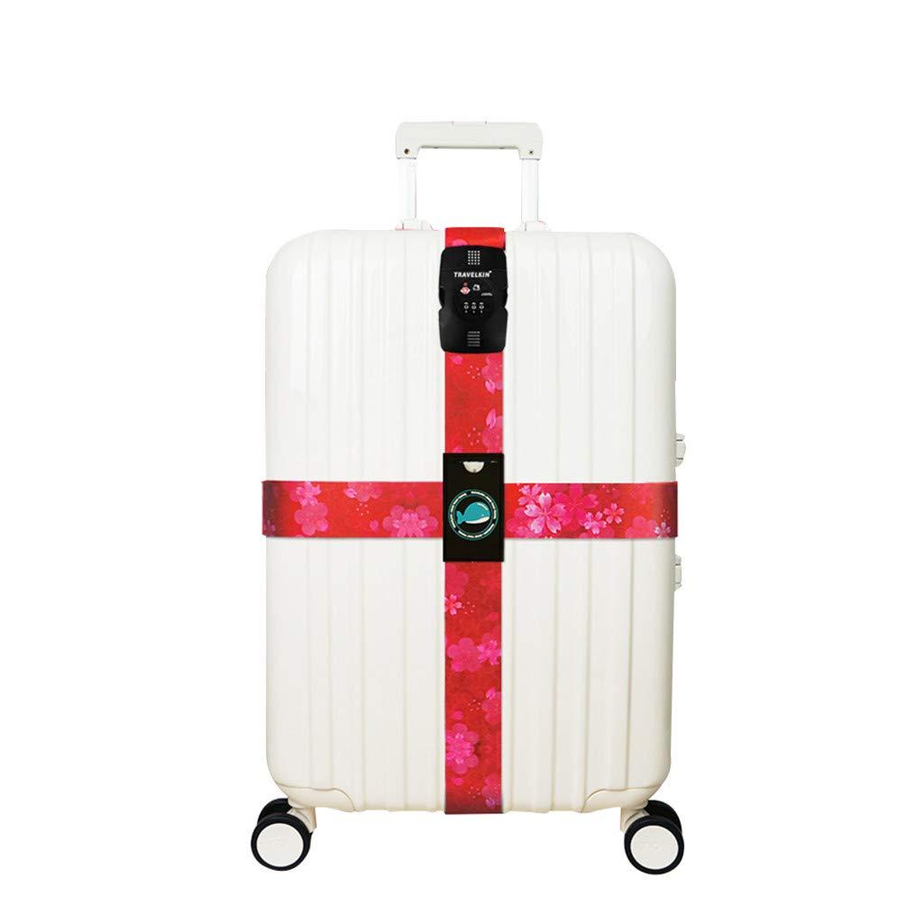 20-32 Pouces Croix TSA Verrouillage Sangle /à Bagage Sangles de Voyage Valise Bagages,Blue,