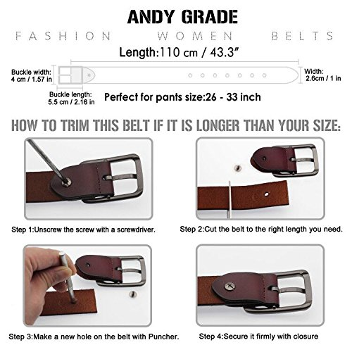 Set-of-2-Womens-Genuine-Cowhide-Leather-Belt-for-Jeans-Pants-Pin-Buckle-By-ANDY-GRADE