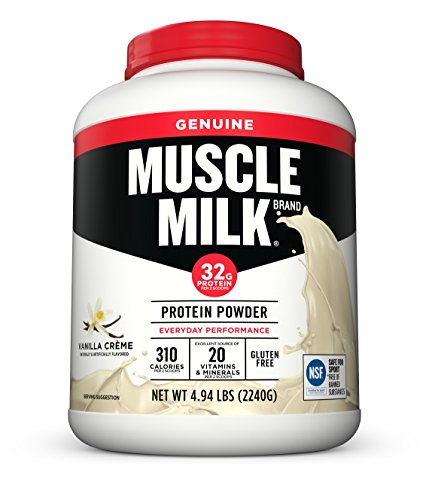 Muscle Milk Genuine Protein Powder, Vanilla Crème, 32g Protein, 4.94 Pound - Cytosport Muscle Milk Powder Vanilla Creme