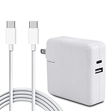 RUICAI 87W USB-C Power Adapter,Type-C Laptop Wall Charger Compatible for MacBook Pro Charger 15 Inch Laptop with USB-C to USB-C Charge Cable