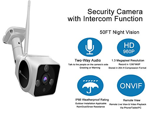 Luowice Wifi Camera Outdoor Wireless Security Camera With