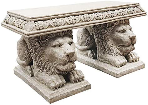 Design Toscano Grand Lion of St. John s Square Sculptural Bench