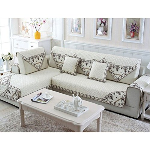 BIN White Sofa Cushion Geometric Reactive Print Cotton/Polyester Slipcovers Surface of The Wall Decoration Canvas Tapestry(Pillowcase/Pillow),90180 ()