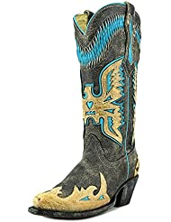 CORRAL Womens Eagle Overlay Western Boots