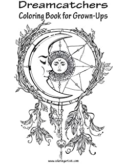 Books About Dream Catchers Adult Coloring Book Dreamcatcher Night For Relax 84