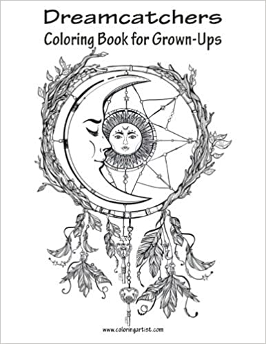 amazoncom dreamcatchers coloring book for grown ups 1 volume 1 9781523496631 nick snels books