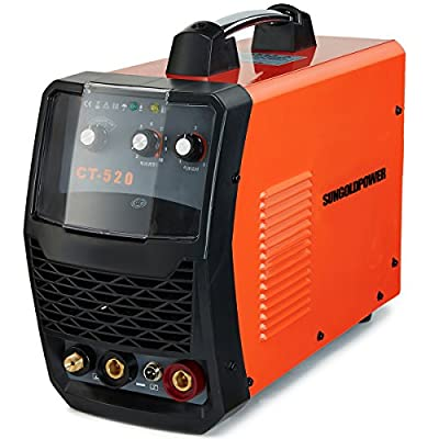 GTSUN CT520 50 Amps Plasma Cutter, 200 Amps Tig Welder and 200 Amps MMA Stick ARC Welder 3 in 1 Welding Machine Plasma Cutting Tig Stick