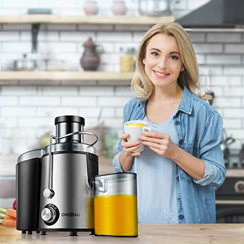 Juicer, Oneisall Juice Extractor with Anti Drip Spout, Upgrade Centrifugal Juicer for Fruits and Vegetables, Easy to Clean, Quiet Motor & Non Slip