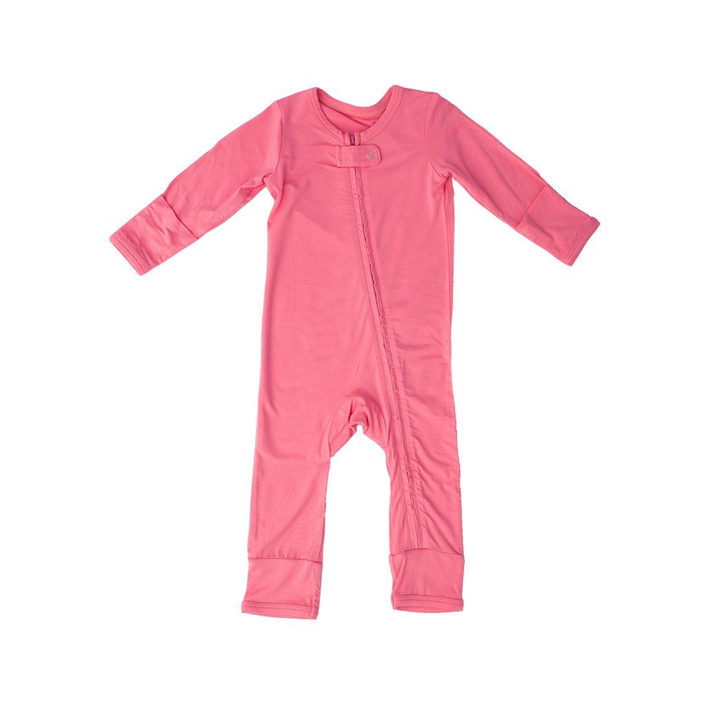 Kozi /& Co..... Long Sleeve Baby Romper Coverall Infant Girls and Boys Bamboo Clothing by