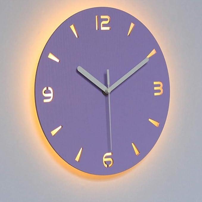 dufgbiDiseño Reloj Digital de Pared Digital Luminoso Múltiple silencioso, A3: Amazon.es: Deportes y aire libre