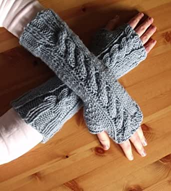 7 Fingerless Gloves Knitting Patterns : How To Knit Fingerless Gloves or Wris...