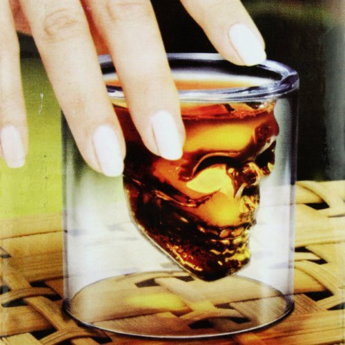 Crystal Skull Head Vodka Shot Glass Drinking Ware for Home Bar 2 Ounces
