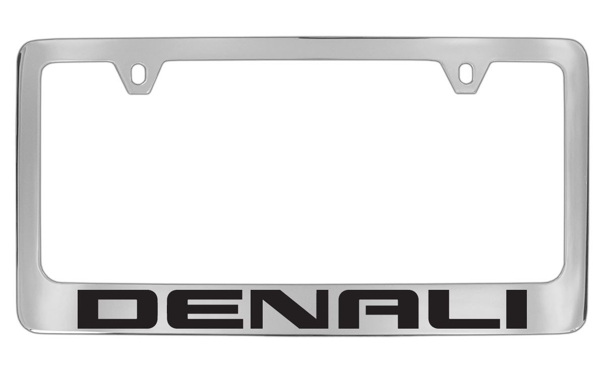 GMC Denali Chrome Metal license Plate Frame Holder