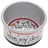 Snoozer Medium I Love My Pet Dog Bowl by Jennifer Garant