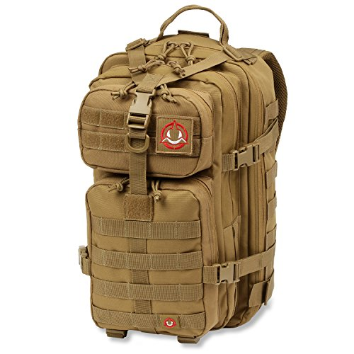 Orca Tactical SALISH 34L MOLLE Army Military Backpack Bug Out Bag Rucksack Assault Pack … (Khaki)