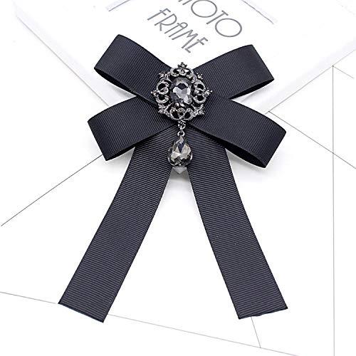 black bow Vintage Brooches Ribbon Bowknot retro Collar Pins Corsage shirt tie cravat Wedding,NO2X black