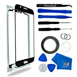 SAMSUNG GALAXY S6 SM G920 BLACK DISPLAY TOUCHSCREEN REPLACEMENT KIT 12 PIECES INCLUDING 1 REPLACEMENT FRONT GLASS FOR SAMSUNG GALAXY S4 / 1 PAIR OF TWEEZERS / 1 ROLL OF 2MM ADHESIVE TAPE / 1 TOOL KIT / 1 MICROFIBER CLEANING CLOTH / WIRE