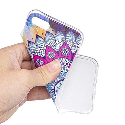 Custodia per iPhone 7 (2016) / iPhone 8 (2017) Cover ,ZXLZKQ rosa Datura Alta qualità Morbido TPU Silicone Coperchio Cover Protezione Custodia Soft Shell Skin Case per iPhone 7 (2016) / iPhone 8 (2017