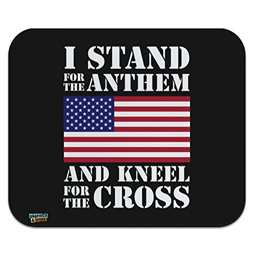 I Stand for The Flag Kneel Cross USA American Flag Patriotic Low Profile Thin Mouse Pad Mousepad