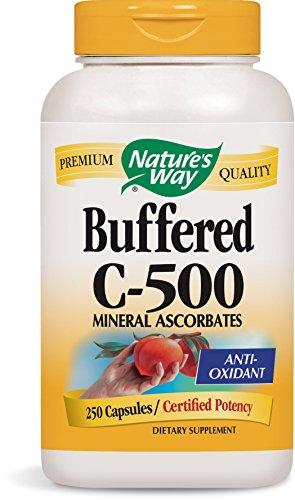 - Nature's Way Buffered C-500 Mineral Ascorbates; 500 mg Vitamin C per Serving; 250 Capsules