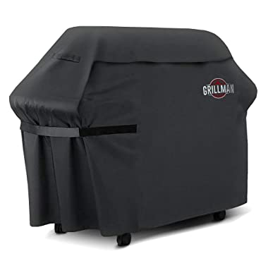 Grillman Premium BBQ Grill Cover, Heavy-Duty Gas Grill Cover for Weber, Brinkmann, Char Broil etc. Rip-Proof, UV & Water-Resistant (72  L x 26  W x 51  H)