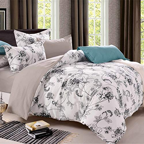 MLAH Elegant Home Butterflies Floral Multicolor White Comforter Bedding Set for Girls/Kids Bed in A Bag with Sheet Set & Decorative,200CM×230CM (Sets Butterfly Bedding Next)