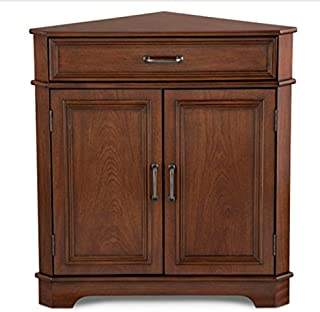 amazon com 161722 smart home corner wine cabinet buffet table rh amazon com Corner Bar Cabinet Coffee Corner Cabinet