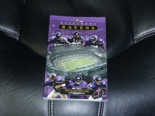 1999 BALTIMORE RAVENS FOOTBALL MEDIA GUIDE RAY LEWIS COVER NR MINT Ravens Mint