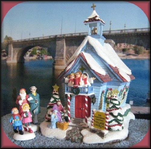 Department 56 Storybook Village TWAS THE NIGHT BEFORE CHRISTMAS Handpainted Lighted Building and Accessories, Set of 3 (Storybook 56)
