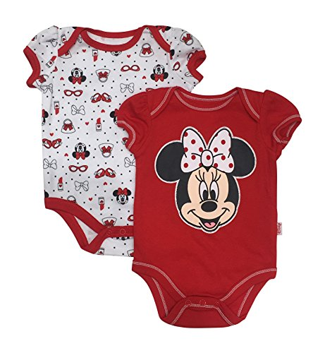 Disney Minnie Mouse Big Smile Dress Up Baby 2 Pack Bodysuit Set
