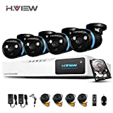 H.View 8 channel 1080p Outdoor Video Surveillance System – Icluding 8CH 1080N CCTV DVR Recorder – (4pcs)1080P Weatherproof Security Cameras 100ft Night Vision(With 1TB Hard Drive Installed)