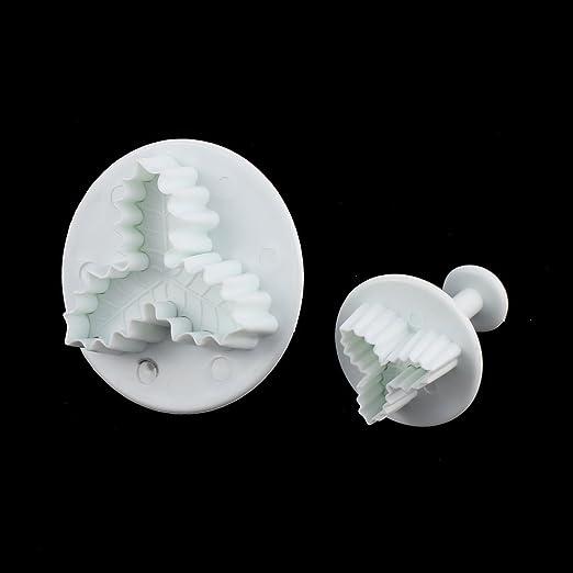 Amazon.com : eDealMax la hoja en Forma de Pasta de azúcar que adorna el molde del molde del cortador del émbolo DE 2 piezas : Baby