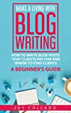 Make a Living With Blog Writing: How to Write Blog Posts That Clients Pay for and Where to Find Clients - a Beginner's Guide