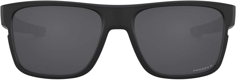 Oakley Men's Crossrange OO9361-0657 Polarized Iridium Square Sunglasses, Matte Black w/Prizm Black Polarized, 57 mm