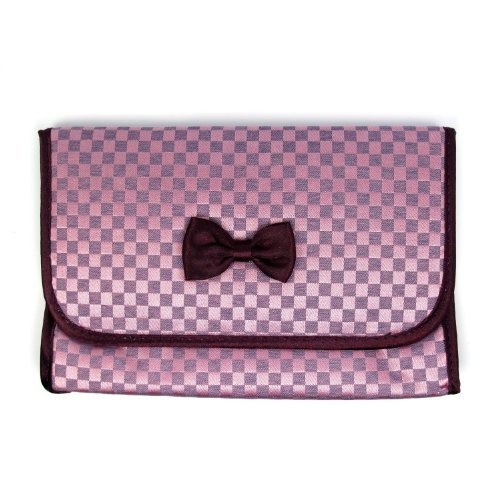 naraya-cosmetic-bag-with-a-mirror-satin-fabric-checkered-purple-color-size-625x4