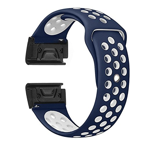 YOOSIDE for Fenix 5X/5X Plus Watch Band,26mm Easy Fit Soft Silicone Quick Release Replacement Band Strap for Garmin Fenix 3/3 HR/Fenix 5X/5X Plus/Fenix 3/3 HR/Quatix3,Fit 6.1-9.4(Not Fit Fenix 5/5S)