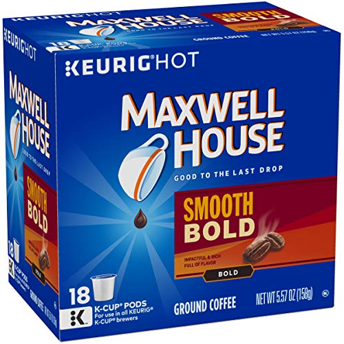 Maxwell House Smooth Bold Keurig K Cup Coffee Pods (72 Count, 4 Boxes of 18)