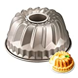 Tomods Nonstick Bundt Cake Pan for 6 Quart Instant Pot, Heavy-Duty Fluted Tube Pan 4 Cup(7 Inch, Champagne Gold) Bundt Pan