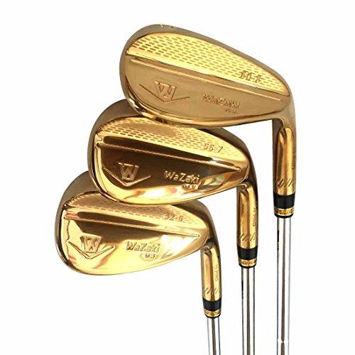 Japan Wazaki 14K Gold M PRO Forged Soft Iron USGA R A rules of Golf Club Wedge Set(pack of three) by wazaki (Image #1)
