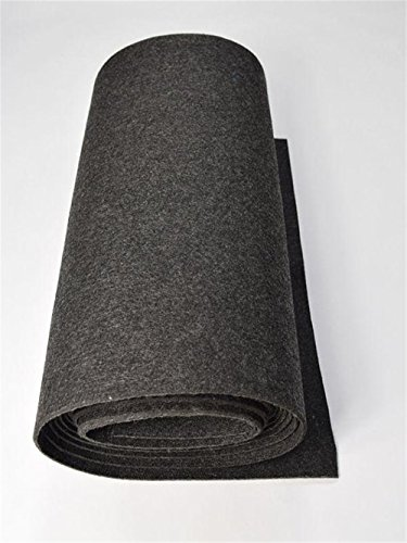 (3mm Thick Wool Blend Felt Wholesale, Felt Yardage, Wool Felt Fabric, Wool Felt Kit (Dark Grey, 5 Yards))
