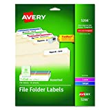 Avery File Folder Labels in Assorted Colors for La...