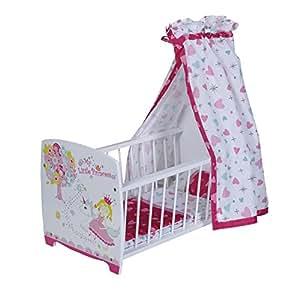 KNORRTOYS.COM 67207 My Little Princess - Cuna para muñeca con dosel