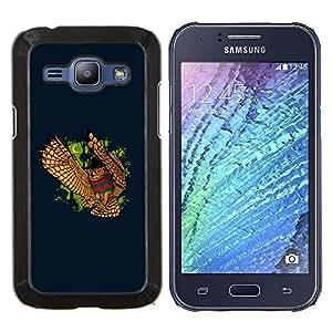 TECHCASE---Cubierta de la caja de protección para la piel dura ** Samsung Galaxy J1 J100 ** --DIVERTIDO NIGHT OWL