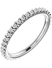 Natural, Not Enhanced Eternity Wedding Band Diamond Ring F-G Color, VS1-VS2 Clarity with Proof of Authentication and Appraisal