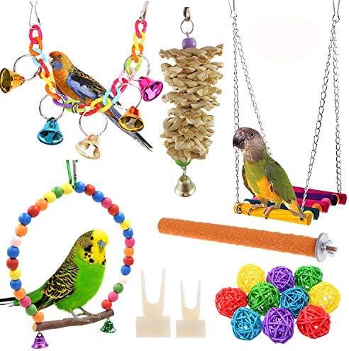 Anteer 12 Packs Bird Parrot Swing Chewin